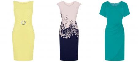 Sukienki na większe wyjście w róznych fasonach, kolorach i wzorach