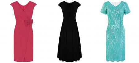 Sukienki wyjściowe na różne okazje - czarna, malinowa, turkusowa
