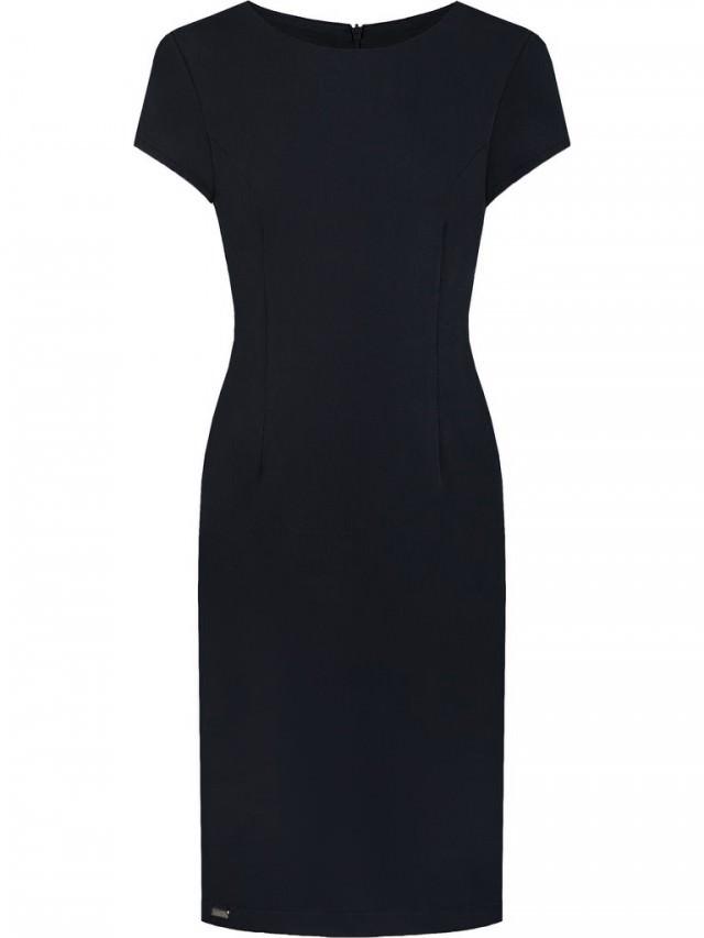 czarna sukienka do biura
