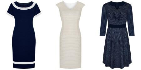 Sukienki z różnymi rodzajami dekoltów