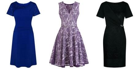 Trzy sukienki w różnych kolorach