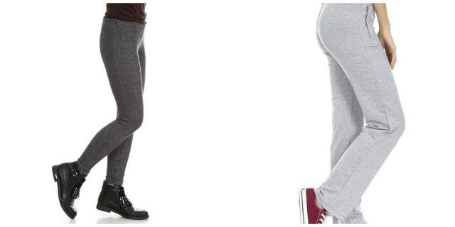 Kolaż z szarymi spodniami